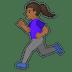 🏃🏾♀️ woman running: medium-dark skin tone Emoji on Google Platform
