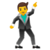 🕺 man dancing Emoji on Google Platform