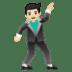 🕺🏻 man dancing: light skin tone Emoji on Google Platform
