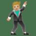🕺🏼 Medium Light Skin Tone Man Dancing Emoji on Google Platform