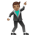 🕺🏽 man dancing: medium skin tone Emoji on Google Platform