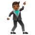 🕺🏾 man dancing: medium-dark skin tone Emoji on Google Platform