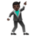 🕺🏿 man dancing: dark skin tone Emoji on Google Platform