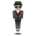 🕴🏻 man in suit levitating: light skin tone Emoji on Google Platform