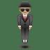 🕴🏼 man in suit levitating: medium-light skin tone Emoji on Google Platform