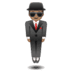 🕴🏽 man in suit levitating: medium skin tone Emoji on Google Platform