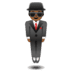 🕴🏾 man in suit levitating: medium-dark skin tone Emoji on Google Platform