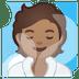 🧖🏽 person in steamy room: medium skin tone Emoji on Google Platform