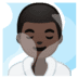 🧖🏿‍♂️ man in steamy room: dark skin tone Emoji on Google Platform