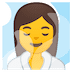 🧖‍♀️ woman in steamy room Emoji on Google Platform