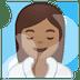 🧖🏽♀️ woman in steamy room: medium skin tone Emoji on Google Platform
