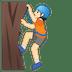 🧗🏻 person climbing: light skin tone Emoji on Google Platform