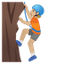 🧗🏼 person climbing: medium-light skin tone Emoji on Google Platform