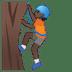 🧗🏿 person climbing: dark skin tone Emoji on Google Platform