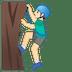🧗🏻♂️ Light Skin Tone Man Rock Climbing Emoji on Google Platform