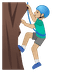 🧗🏼‍♂️ man climbing: medium-light skin tone Emoji on Google Platform