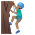 🧗🏽‍♂️ man climbing: medium skin tone Emoji on Google Platform