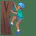 🧗🏽♂️ man climbing: medium skin tone Emoji on Google Platform