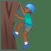 🧗🏾♂️ man climbing: medium-dark skin tone Emoji on Google Platform