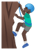 🧗🏿♂️ Dark Skin Tone Man Rock Climbing Emoji on Google Platform