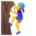 🧗‍♀️ woman climbing Emoji on Google Platform