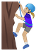 🧗🏼‍♀️ woman climbing: medium-light skin tone Emoji on Google Platform