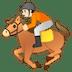 🏇🏻 horse racing: light skin tone Emoji on Google Platform