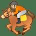 🏇🏼 horse racing: medium-light skin tone Emoji on Google Platform