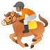 🏇🏽 horse racing: medium skin tone Emoji on Google Platform