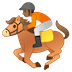 🏇🏾 horse racing: medium-dark skin tone Emoji on Google Platform