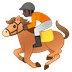 🏇🏿 horse racing: dark skin tone Emoji on Google Platform