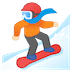 🏂🏻 snowboarder: light skin tone Emoji on Google Platform