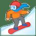 🏂🏼 snowboarder: medium-light skin tone Emoji on Google Platform