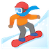 🏂🏽 snowboarder: medium skin tone Emoji on Google Platform