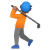 🏌🏽 person golfing: medium skin tone Emoji on Google Platform