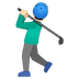 🏌🏻‍♂️ man golfing: light skin tone Emoji on Google Platform