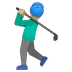 🏌🏼‍♂️ man golfing: medium-light skin tone Emoji on Google Platform