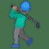 🏌🏽♂️ man golfing: medium skin tone Emoji on Google Platform