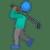 🏌🏾♂️ Medium Dark Skin Tone Man Golfing Emoji on Google Platform