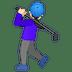 🏌🏻♀️ woman golfing: light skin tone Emoji on Google Platform
