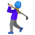 🏌🏼♀️ woman golfing: medium-light skin tone Emoji on Google Platform