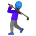 🏌🏾‍♀️ Medium Dark Skin Tone Woman Golfing Emoji on Google Platform