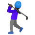 🏌🏿‍♀️ woman golfing: dark skin tone Emoji on Google Platform