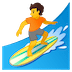🏄 person surfing Emoji on Google Platform