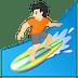 🏄🏻 person surfing: light skin tone Emoji on Google Platform