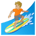 🏄🏼 person surfing: medium-light skin tone Emoji on Google Platform