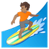 🏄🏽 person surfing: medium skin tone Emoji on Google Platform
