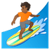 🏄🏾 person surfing: medium-dark skin tone Emoji on Google Platform