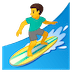 🏄‍♂️ man surfing Emoji on Google Platform