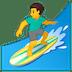 🏄♂️ man surfing Emoji on Google Platform